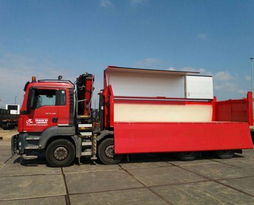 Vrachtwagen 8x4 haakarm